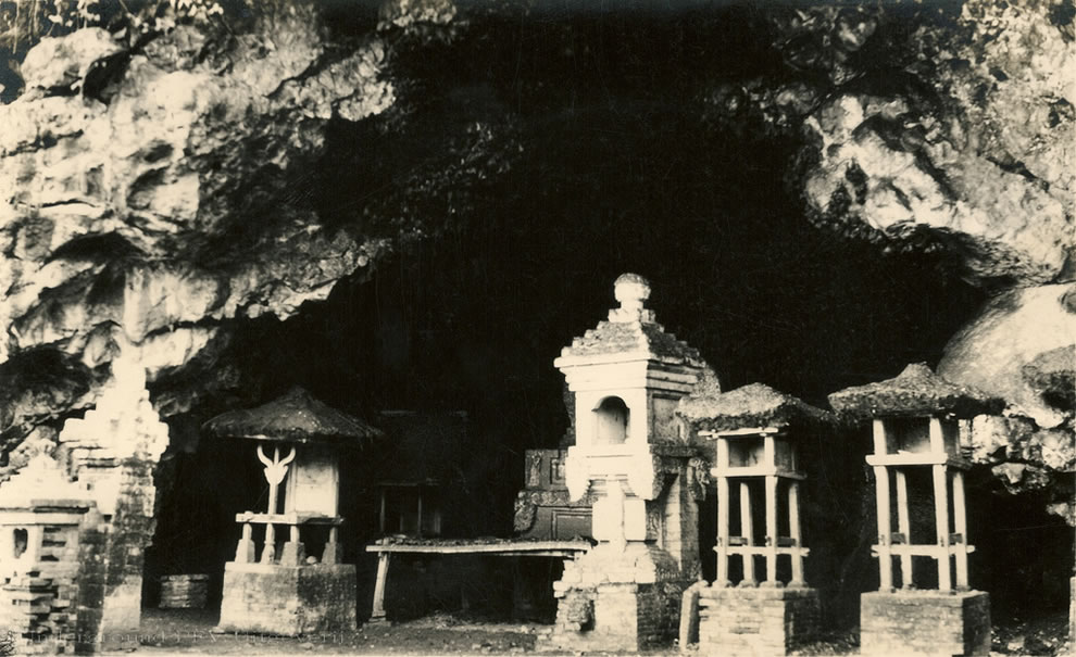 Goa Lawah Temple, aka Bat Temple, in a cave filled with bats