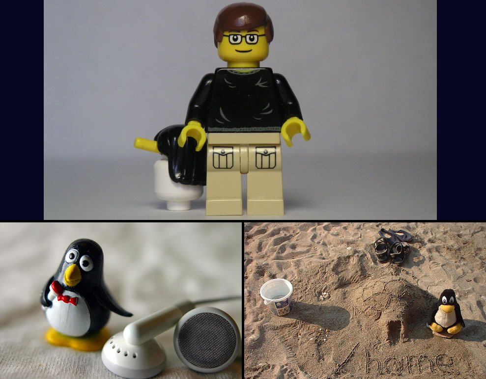 Lego Linus Torvalds and tux