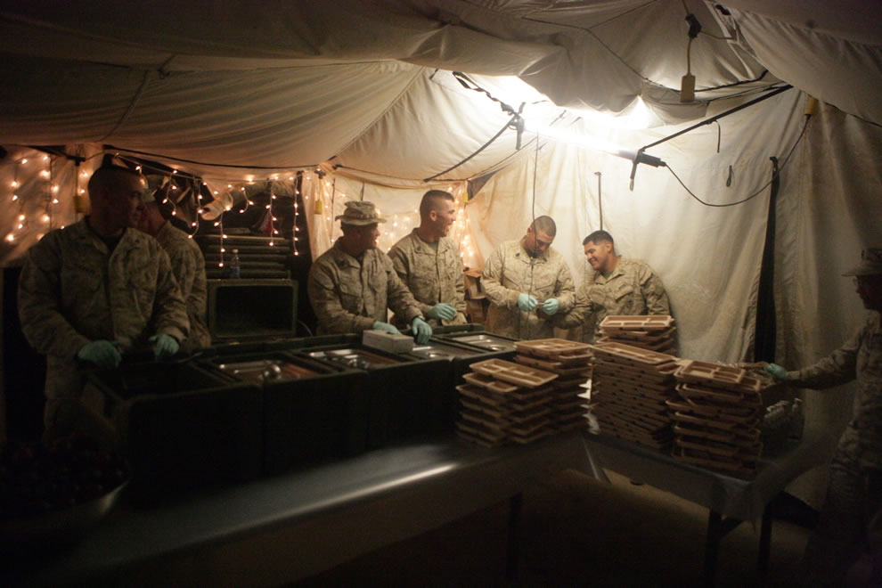 Marines Thanksgiving Afghanistan