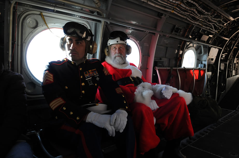 Marines provide special escort for Santa