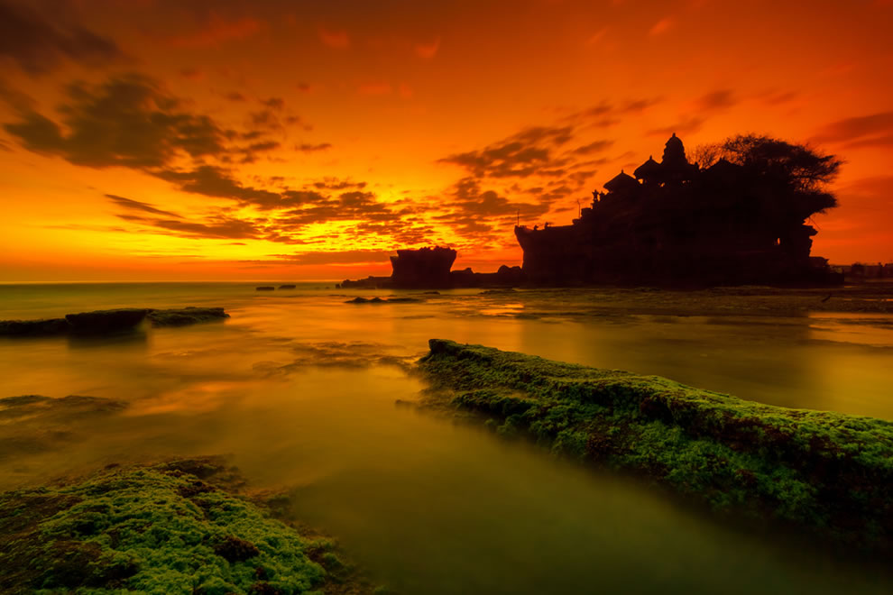 Mystic Bali Sunset over Tanah Lot