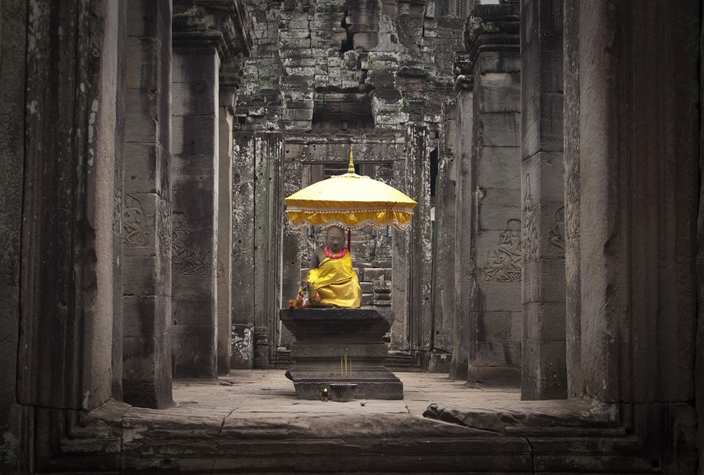 The Origin of Suffering is Attachment -- Bayon, Cambodia, Indochina