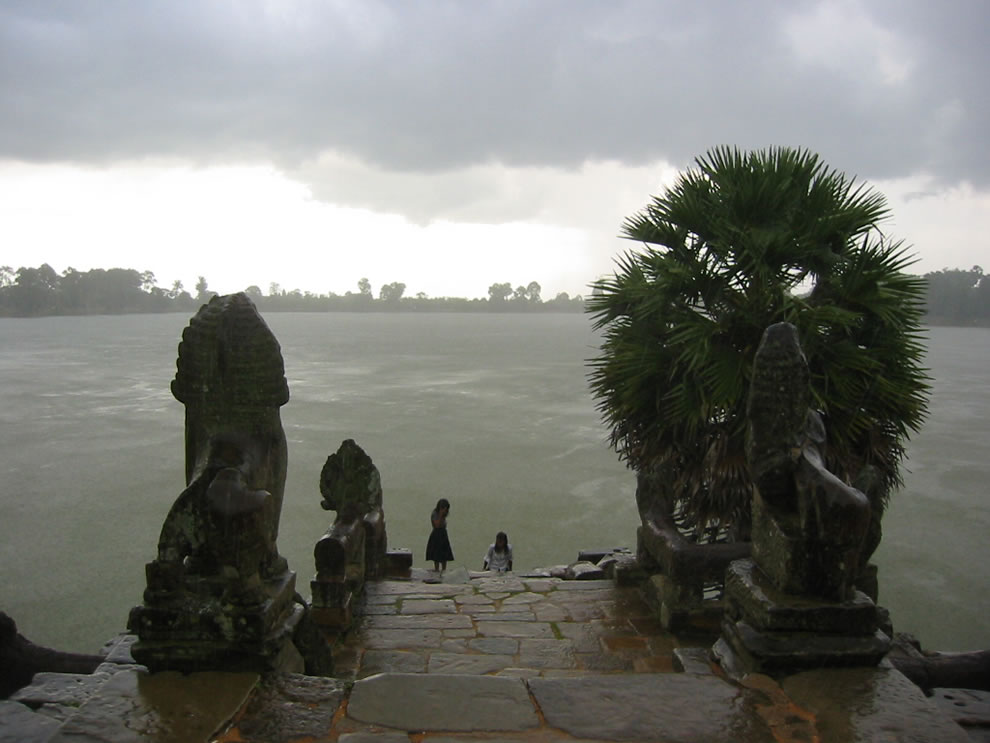 The Srah Srong reservoir of Angkor, Cambodia