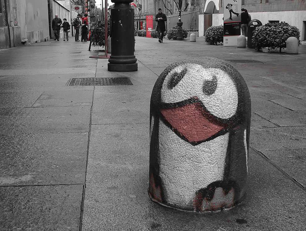 Tux graffiti in Torino, Italy