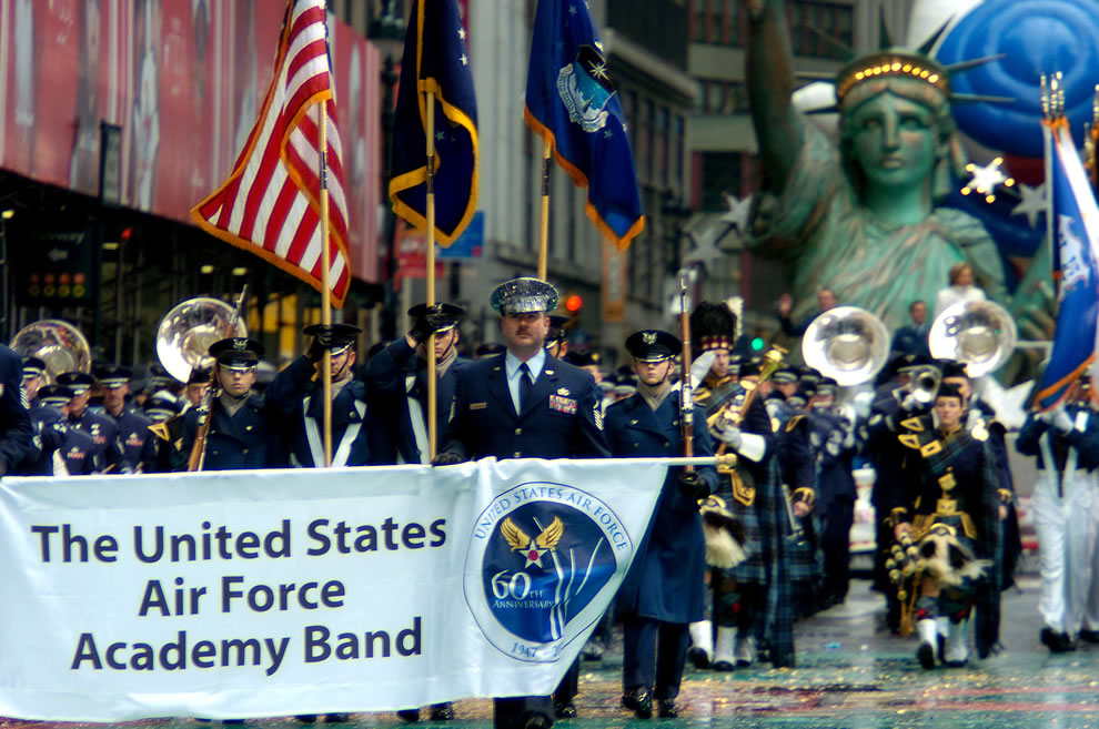 USAF Academy Band at Macy's Thanksgiving parade