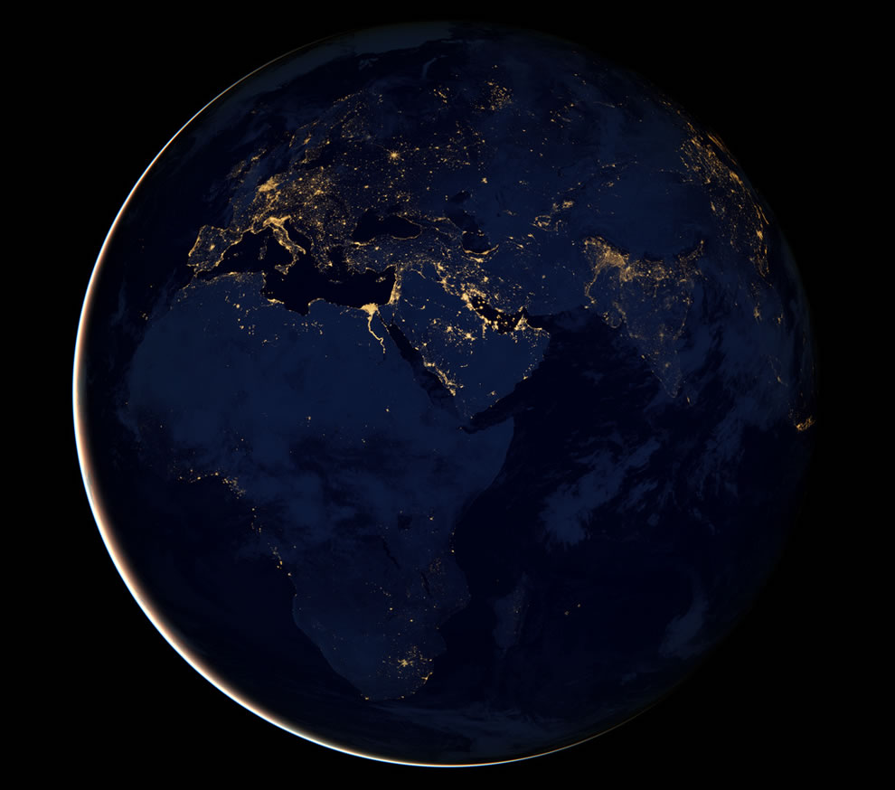 Black Marble - Africa, Europe, and the Middle East at night