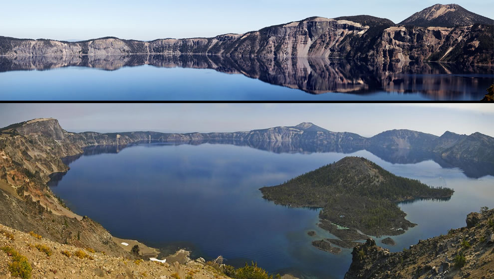 Crater Lake National Park, Oregon, Crater Lake and Wizard Island