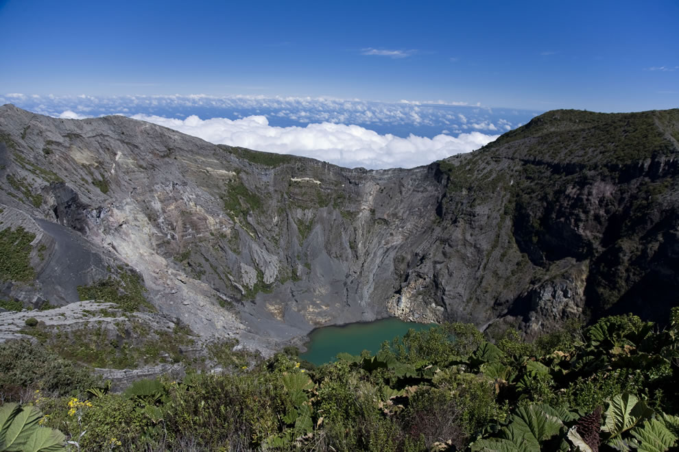 Crater Lake at Irazu Volcano in Costa Rica