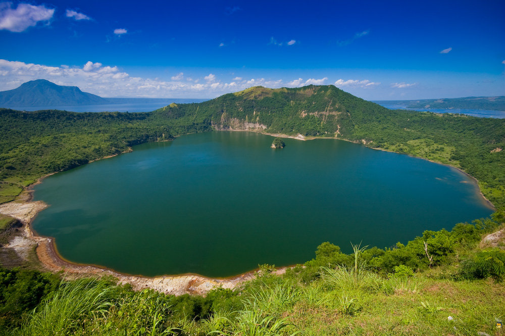 Crater Lake at the Mouth of Taal Volcano in Luzon, Philippines