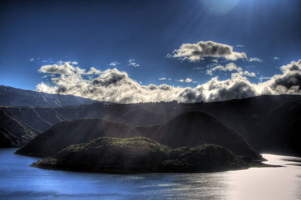 Laguna Cuicocha in Ecuador