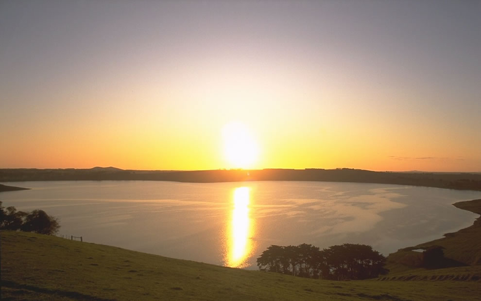 Lake Bullen Merri is a brackish crater lake near Camperdown in Victoria, Australia