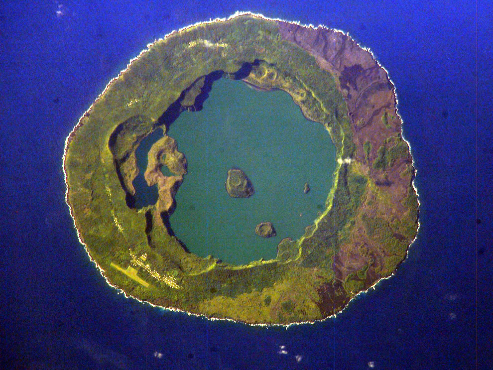 Niuafoou Island, Tonga, from space