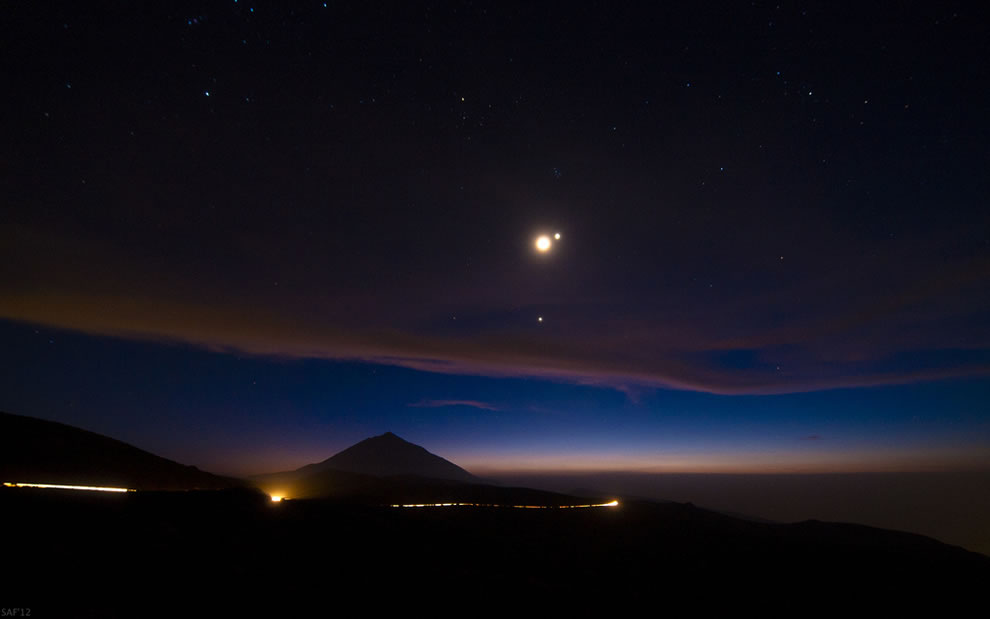 #10 ranked island by highest point is Tenerife, Spain. This is one of the Canary Islands. Teide Peak stretches to 12,198 ft (3,718 m) Teide, Luna, Venus and Jupiter