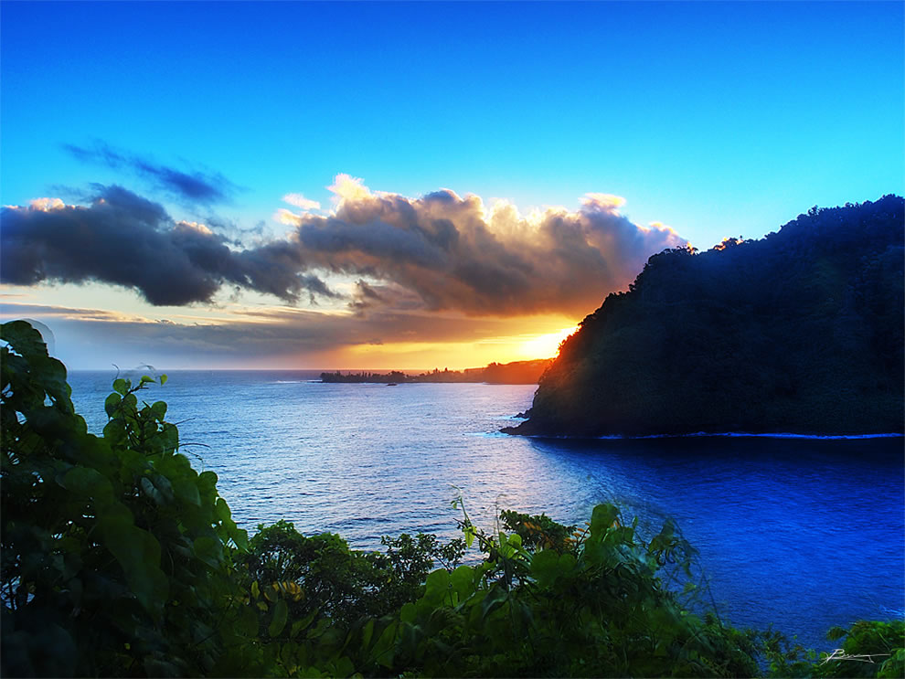 Along the road to Hana, Maui, list of top 20 islands by highest point