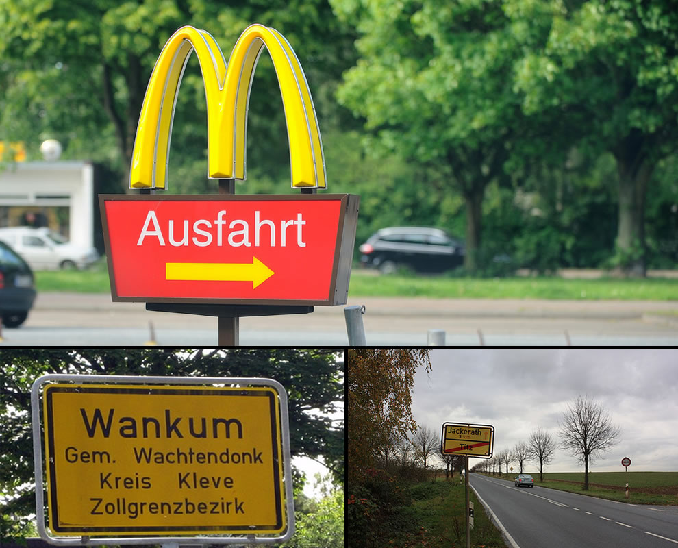 Ausfahrt Germany, Wankum Germany, Titz Germany