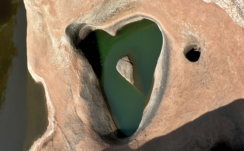 Heart-Shaped Hole Near Hampi, Karnataka, south India