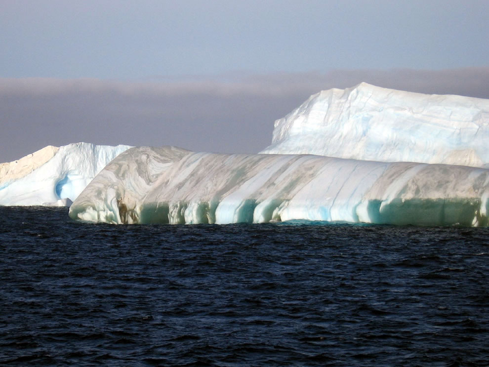Iceberg green and white stripes