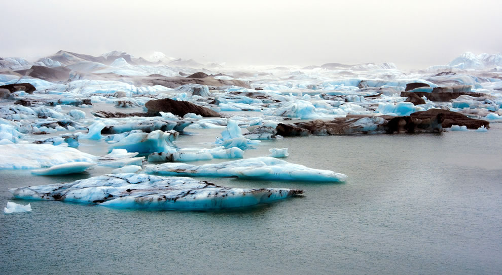 My favorite place on Iceland. Unbelievable quiet, calm & peaceful, icbergs and striped ice