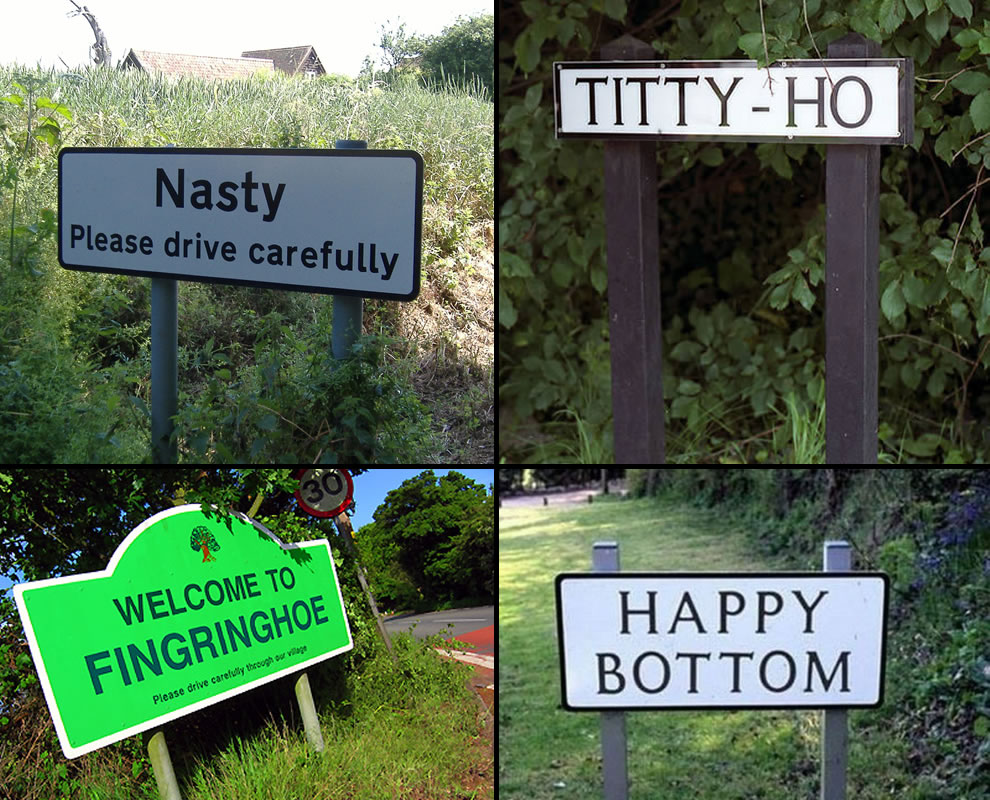 Nasty, Happy Bottom, Fingringhoe and Titty Ho UK