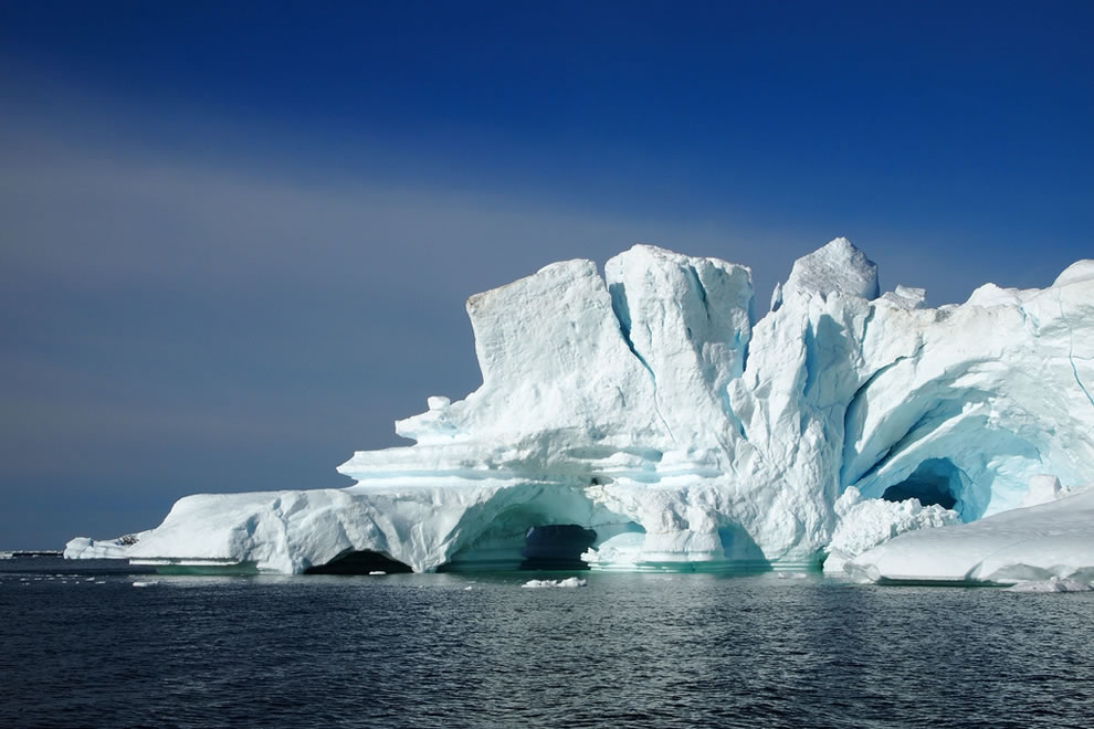 icebergs in North Greenland