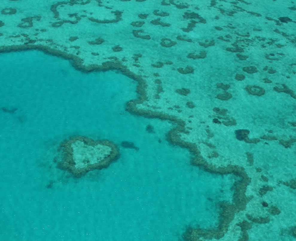 Queensland heart reef