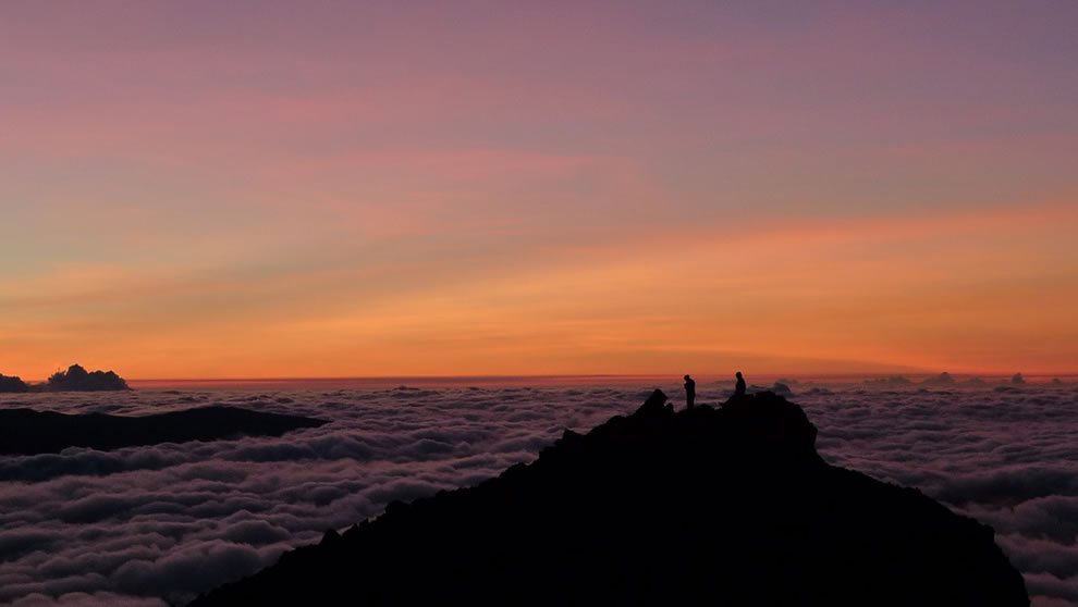 Sunrise on the Piton des Neiges, island of Réunion, France