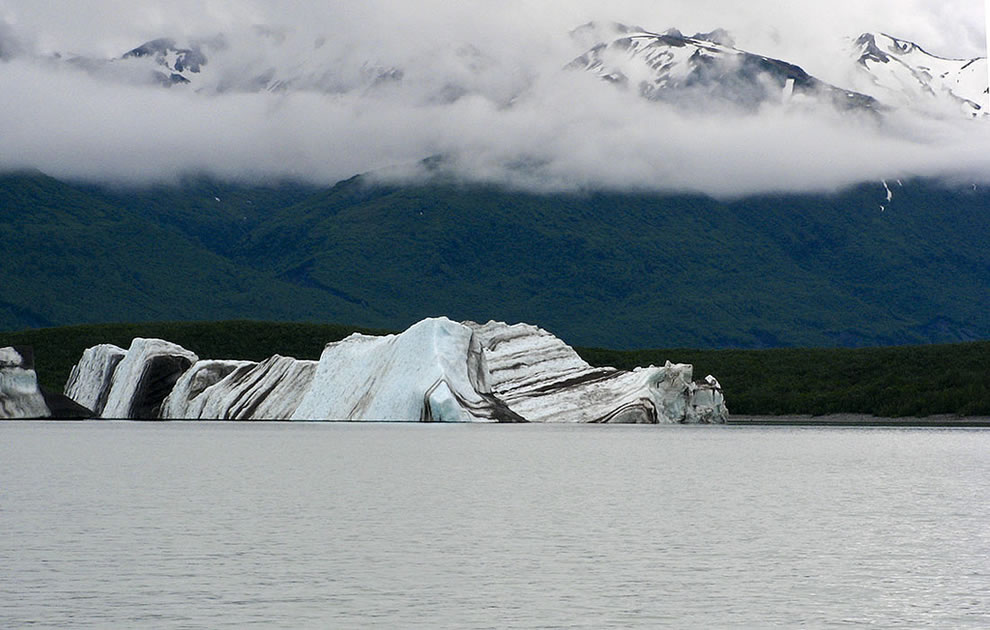 the battleship  iceberg #4 along the Alsek river  day #11 of rafting along the Alsek river, Alaska