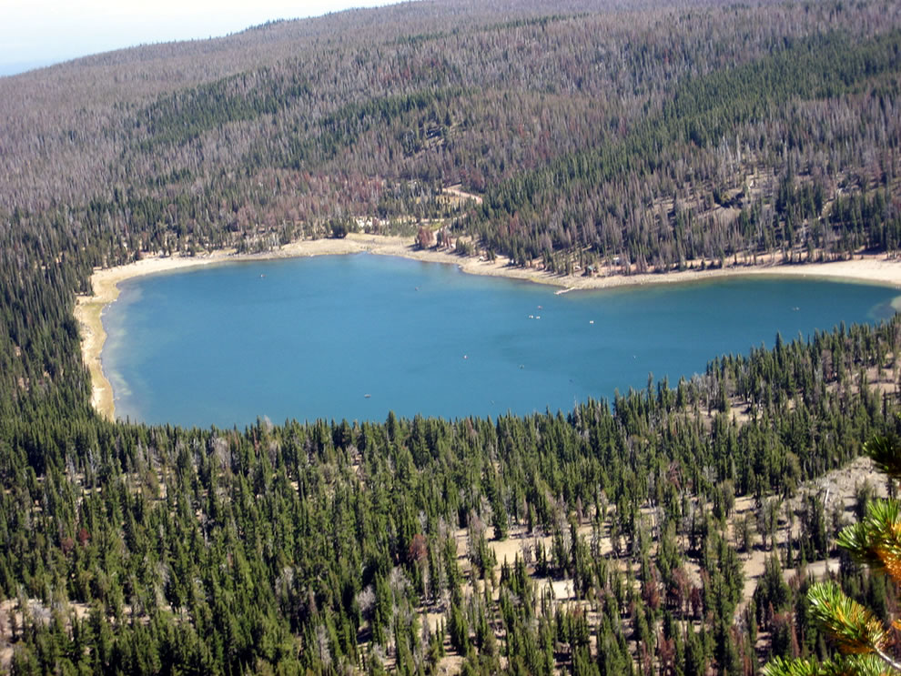 Heart shape at Three Creeks Lake, Oregon