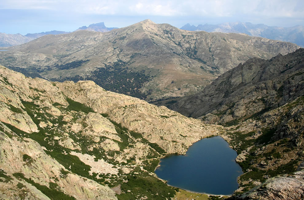 Heart of Corisca Lake Lac de Goria is a heart-shaped lake in Corsica, France
