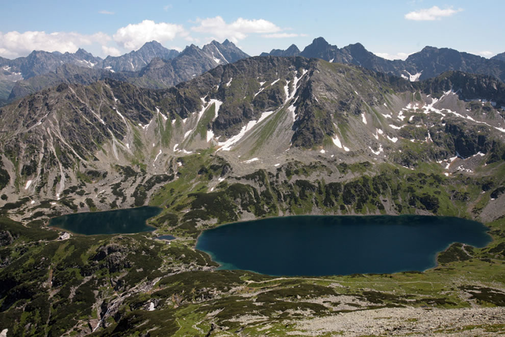 Polish side of the Tatras Mountains, lake with the shape of a heart
