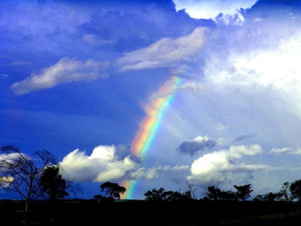 Rainbow over rural Bonito, Brazil