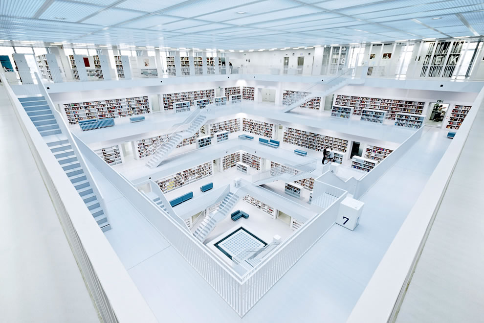 Stuttgart city library in Stuttgart, Germany