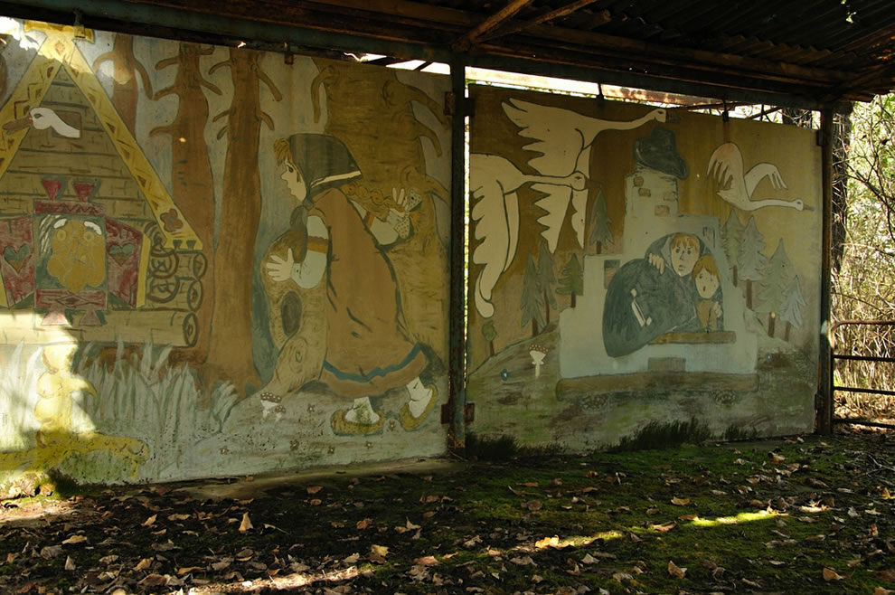 Chernobyl Mural and decay in autumn 2012