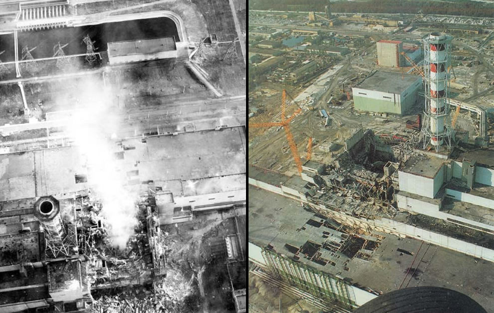 Chernobyl aerial nuclear reactor