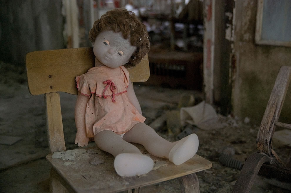 Creepy doll in Chernobyl Exclusion Zone May 2011