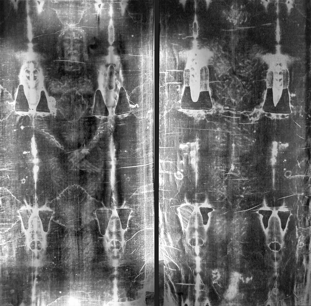 Full length negatives of the shroud of Turin