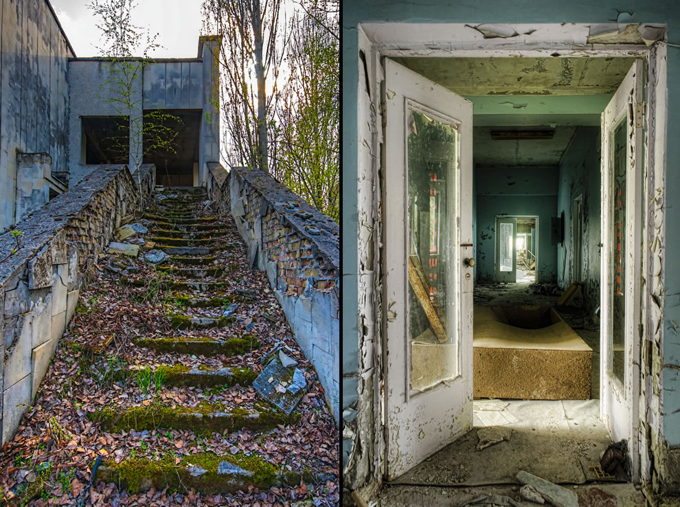 Ghost city of Pripyat, touring Chernobyl