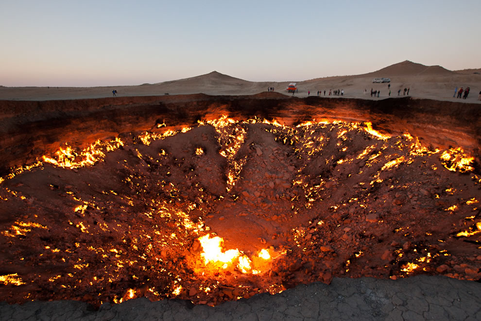 Golden Eagle Silk Road The Door to Hell in Darvaza Turkmenistan & Darvaza Gas Crater