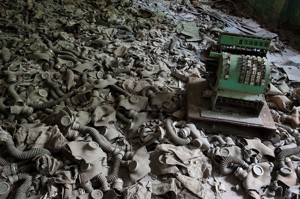 May 2012 School Gas Masks Chernobyl Exclusion Zone