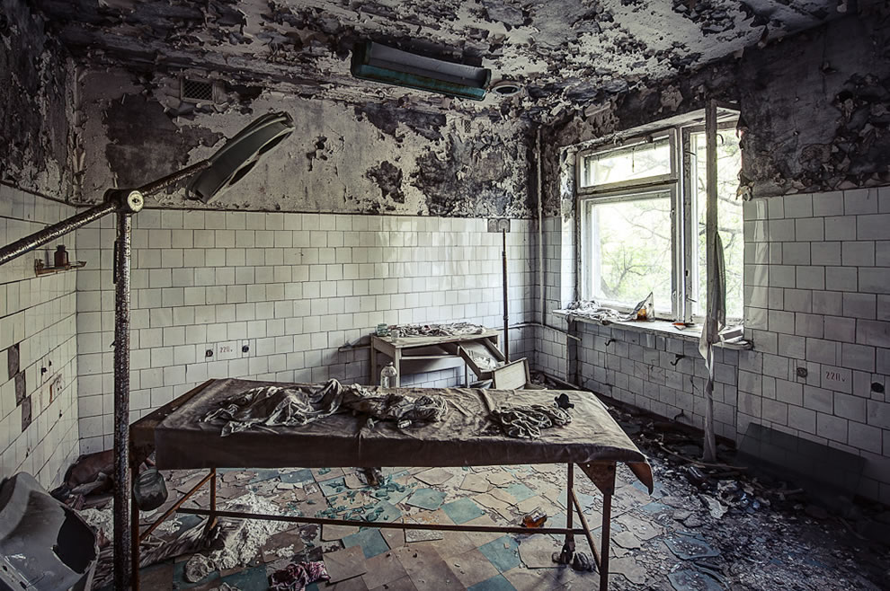 May 2012, decaying hospital at Pripyat