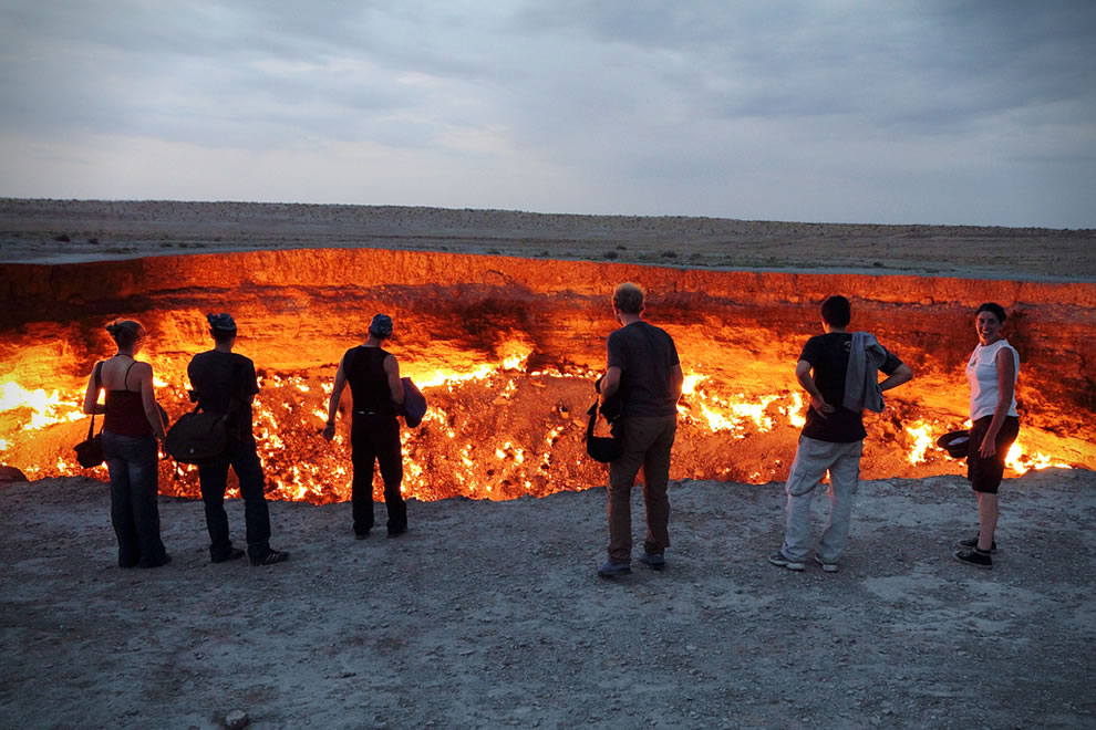 Mesmerized at the Door to Hell & Flaming Door to Hell in the Devil\u0027s Sandbox along Infamous Silk Road Pezcame.Com