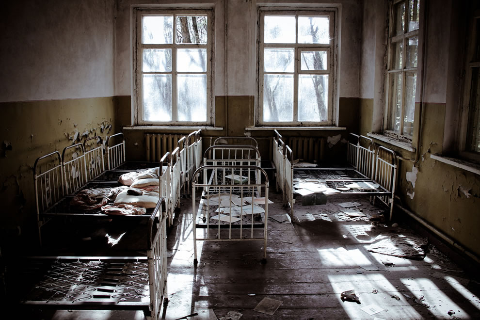 October 2011 An abandoned nursery inside the exclusion zone around the Chernobyl Nuclear Power Plant