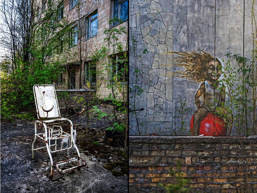 The Chair & Graffiti, Pripyat, Chernobyl