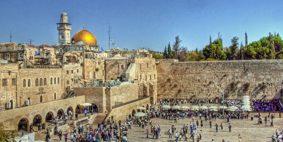 The wailing Wall and the Temple Mount - Jerusalem