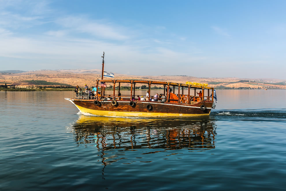 Tour boat at Galilee