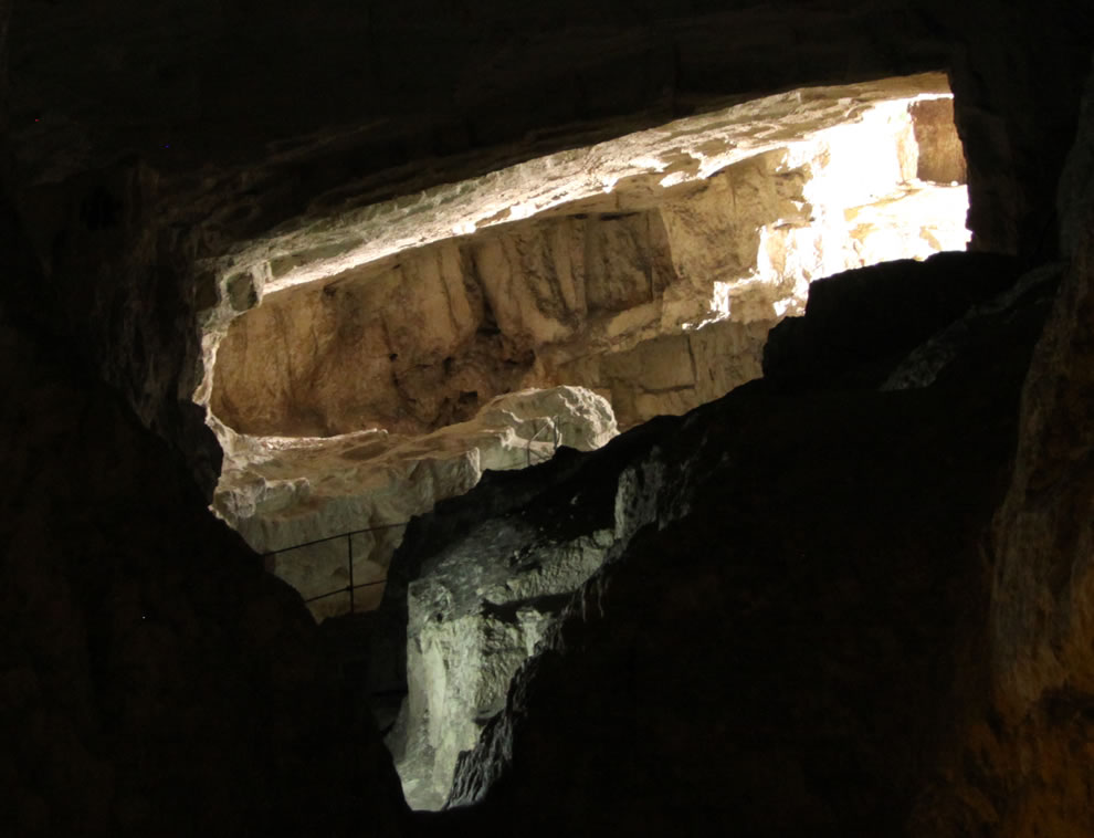 Zedekiah's Cave also known as Solomon's Quarries is limestone quarry under part of Old Town of Jerusalem, Israel