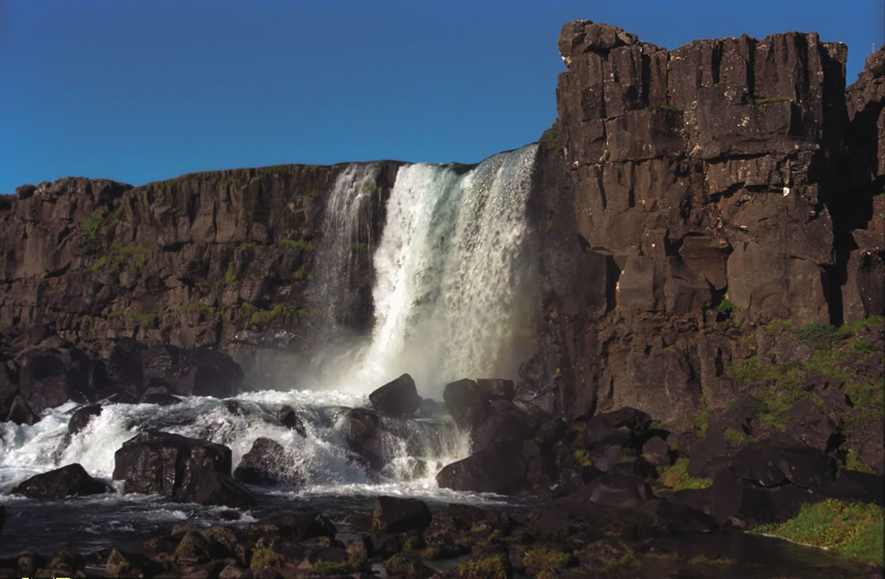 Öxaráfoss, at Þingvellir National Park