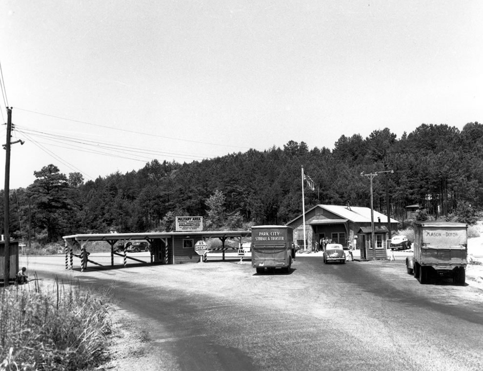 1940s Oak Ridge Military Gate