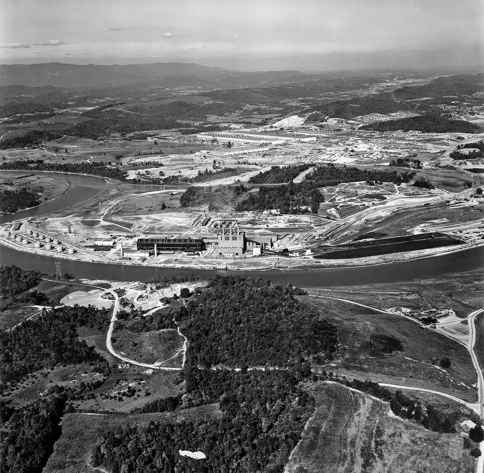 1945 K-25 Plant Aerial Oak Ridge Tennessee
