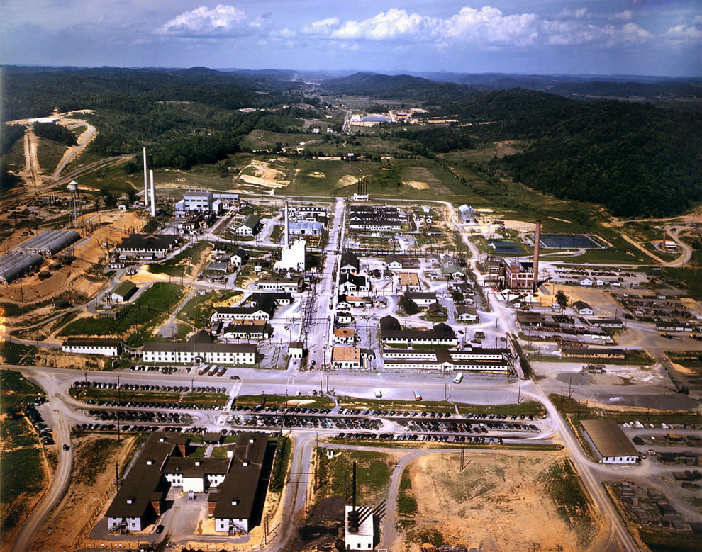 1947 Aerial photo of Oak Ridge National Lab, Tennessee